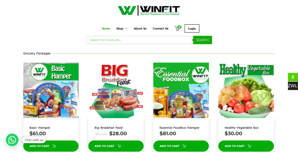 Winfit Services – Online Grocery Shop – Zimbabwe (2)